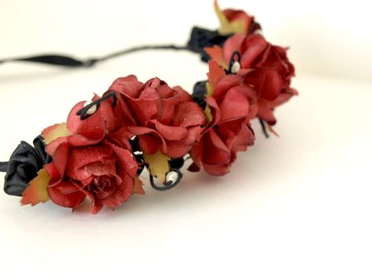 Red Floral Tiara
