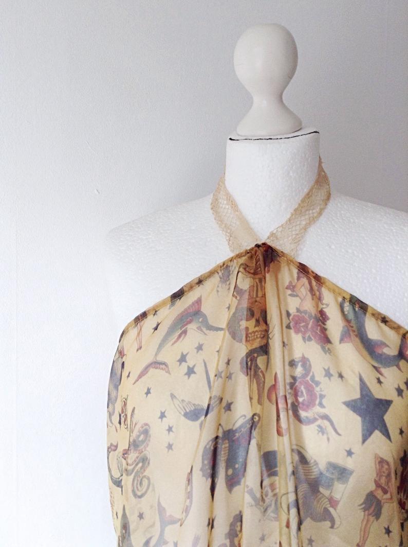 Halter Top in Chiffon Silk