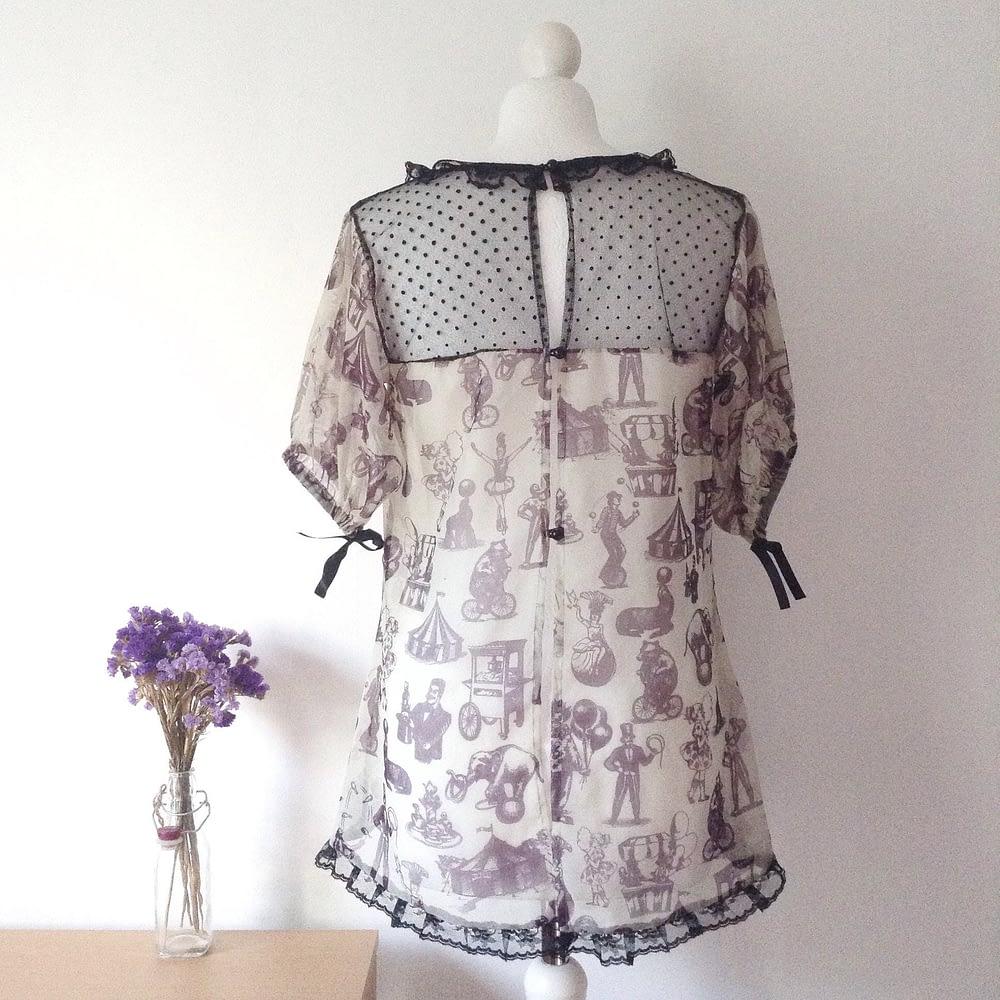 Back Transparent Silk Blouse