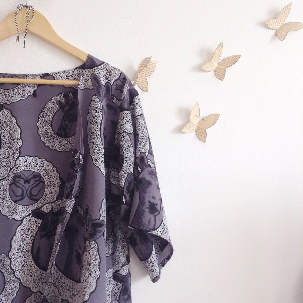 Romantic Silk Dressing Gown