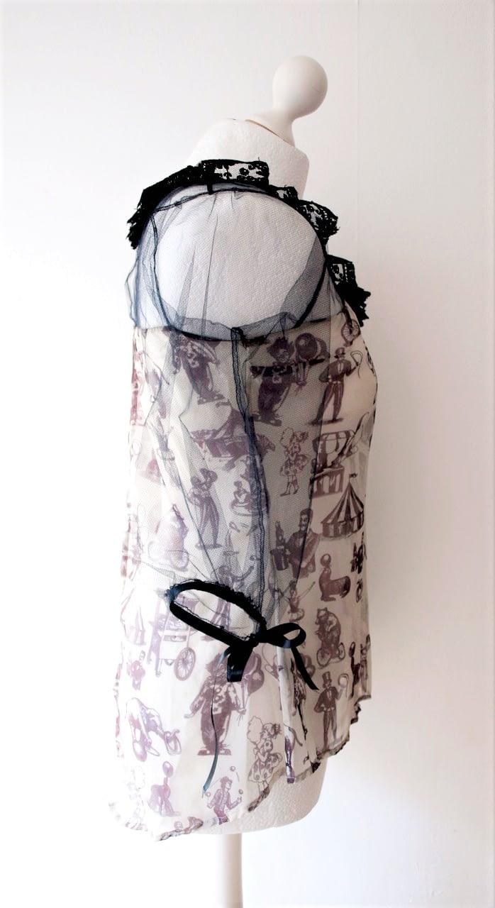 Vintage Style Silk Blouse