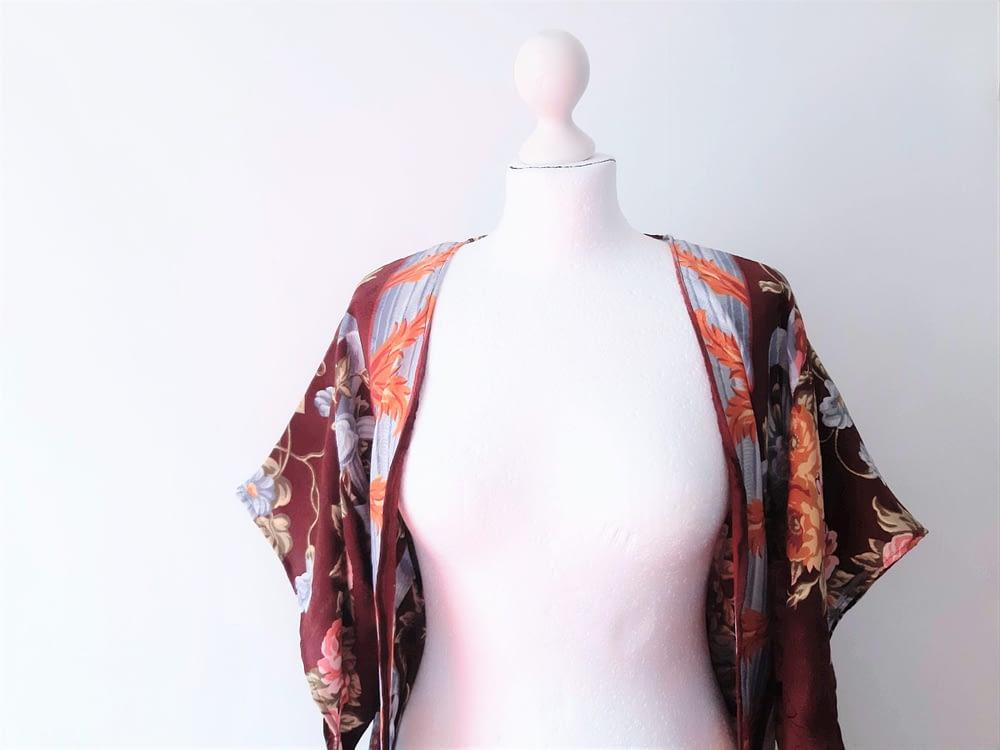 Silk Kimono Reworked Vintage