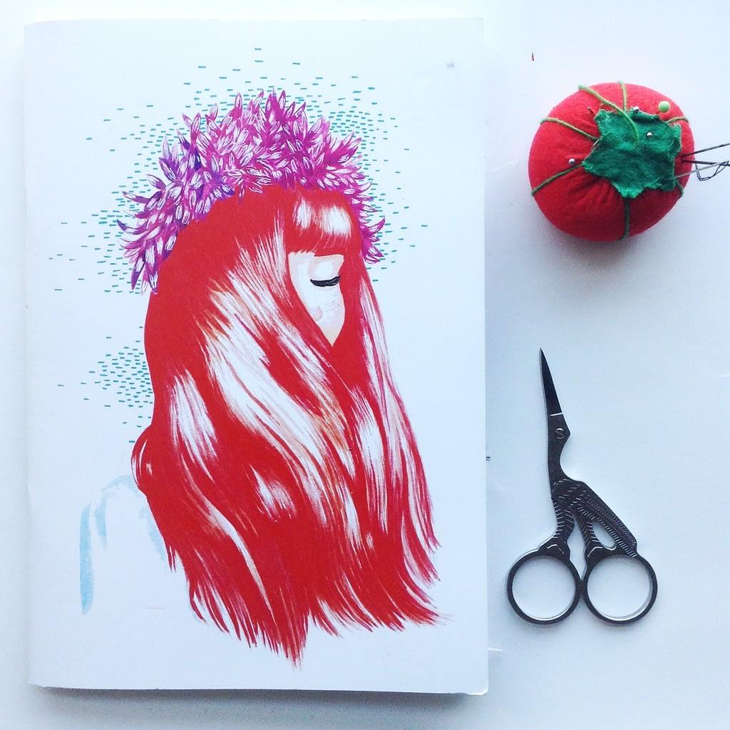 Notebook Illustration by La Chica de La Cinta