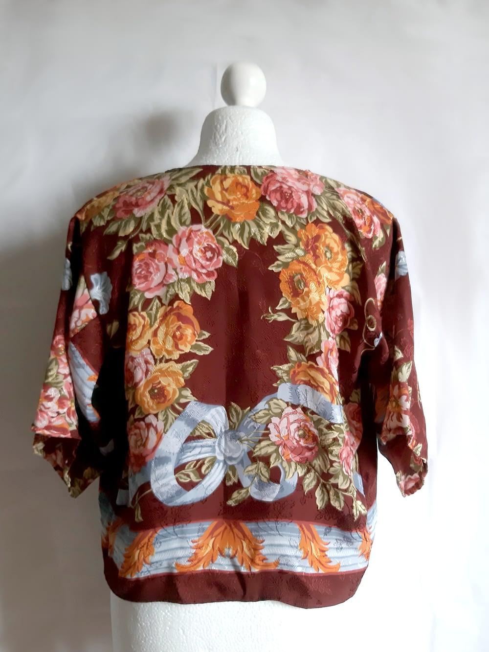 Back Silk Kimono