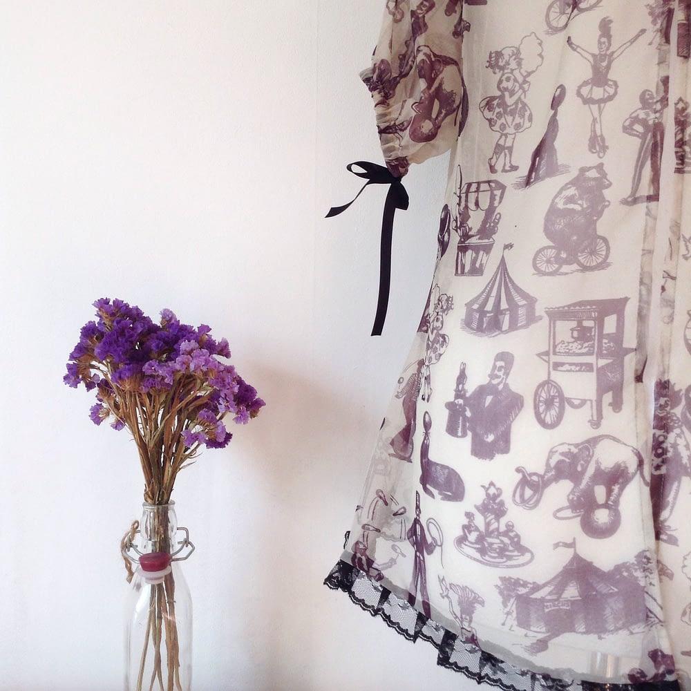 Antique Circus pattern silk