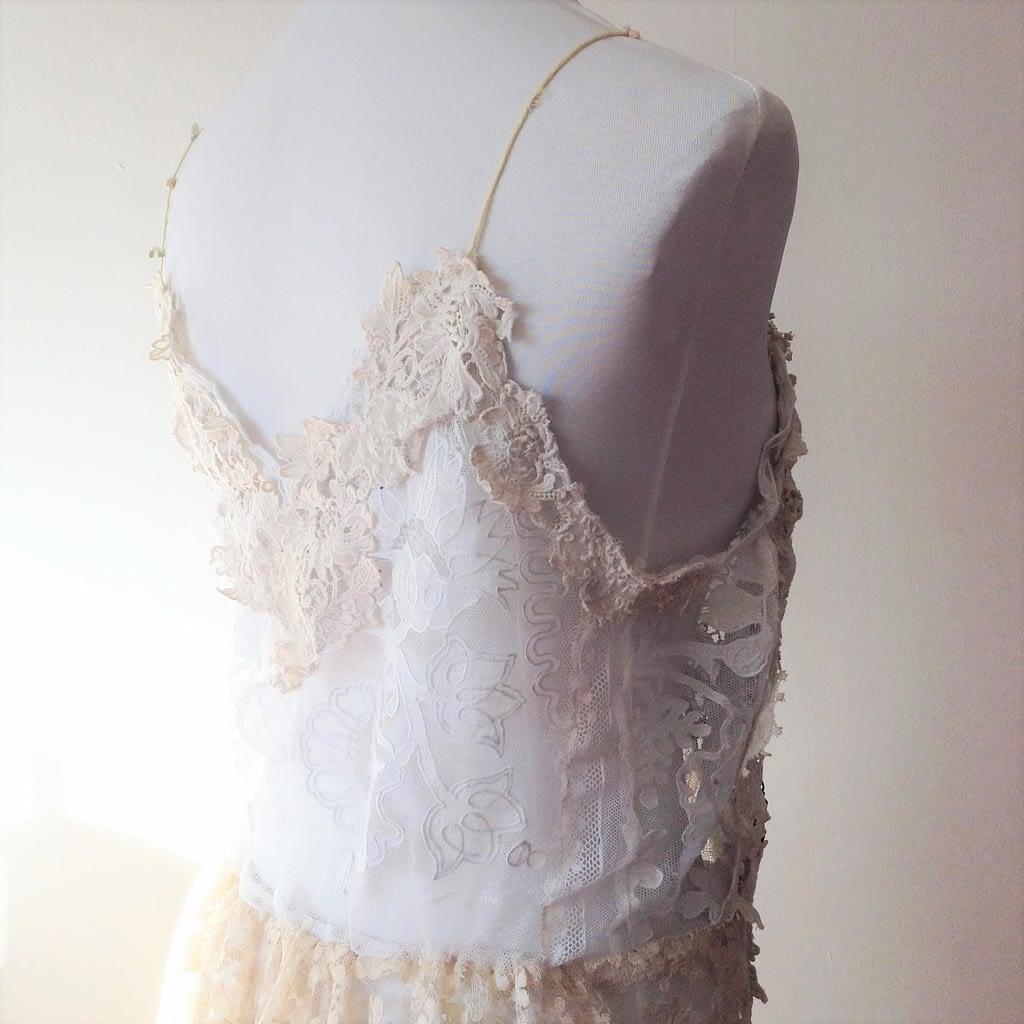 Reworked Vintage Lace dress - Back