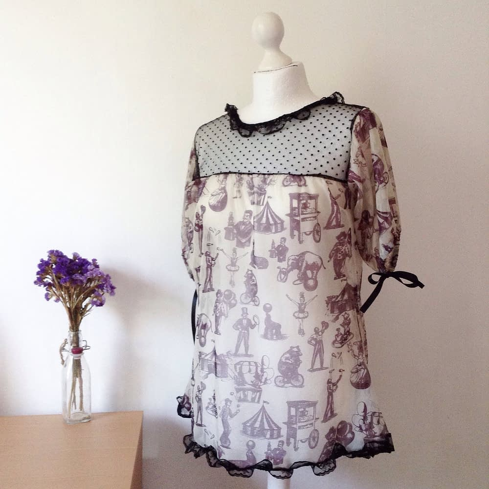 Transparent Silk Blouse
