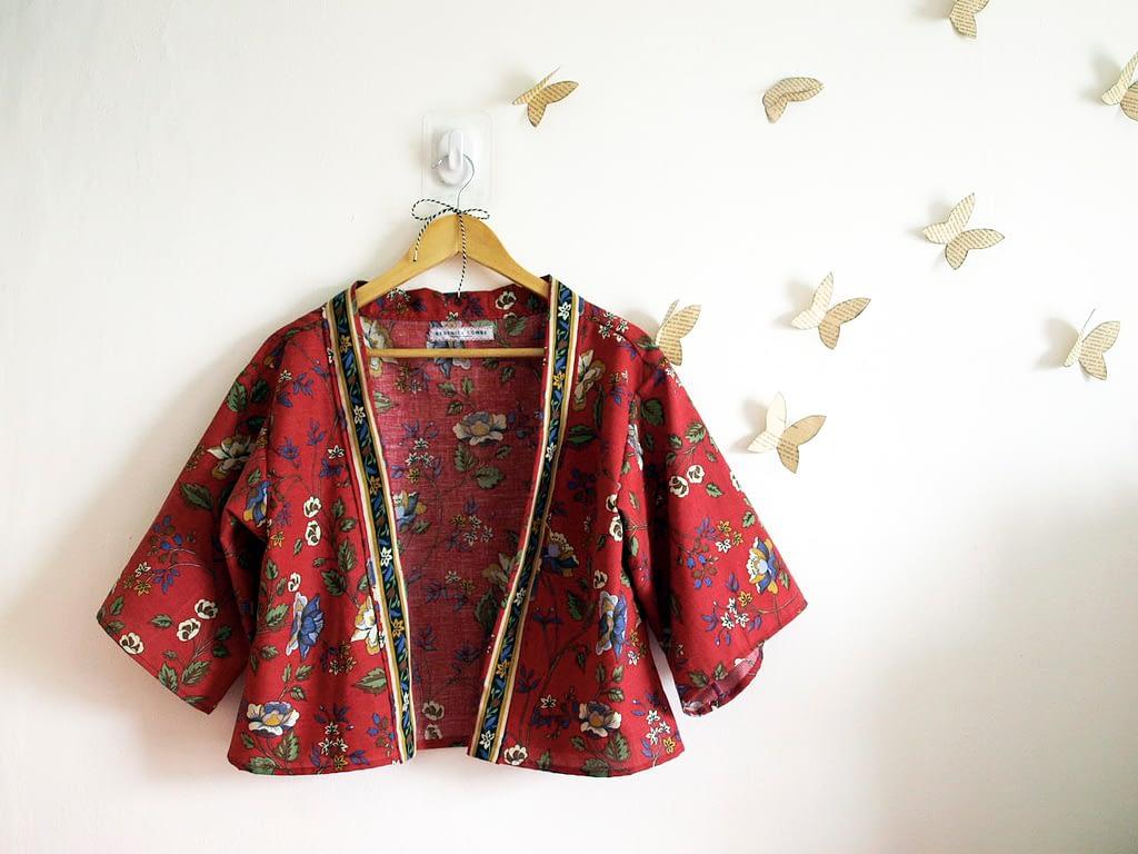 Reworked Vintage Kimono Jacket