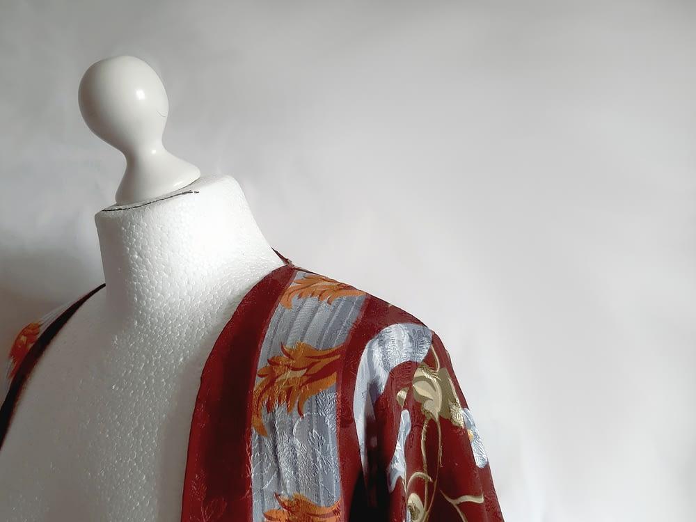 Detail Silk Kimono Reworked Vintage