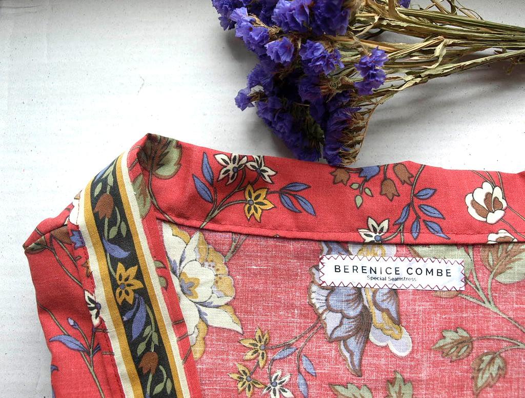 Crimson Short Kimono Jacket - Reworked vintage