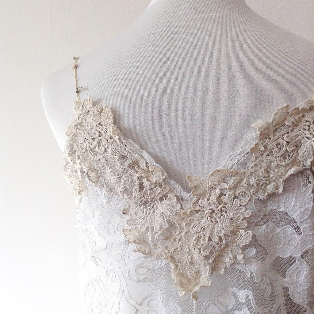 Reworked Vintage Lace dress - Detail
