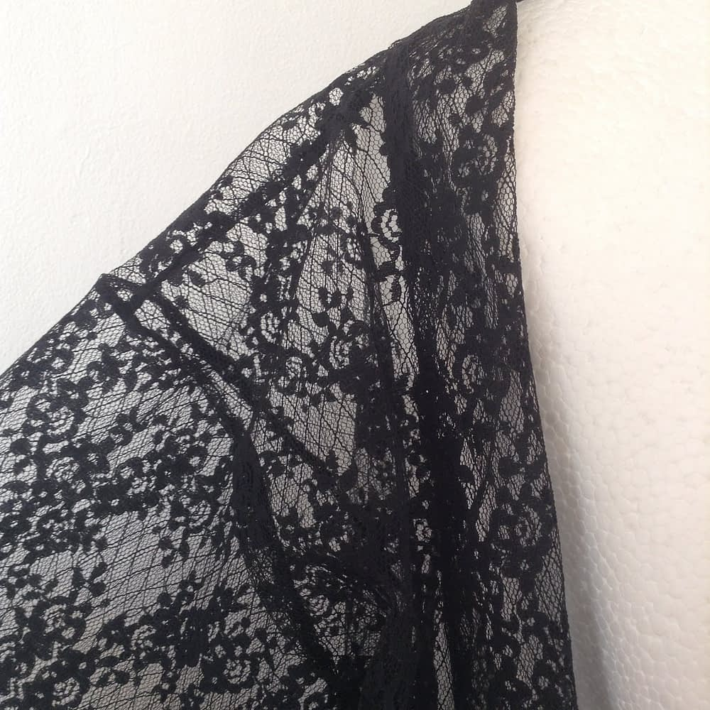 Black tulle Kimono