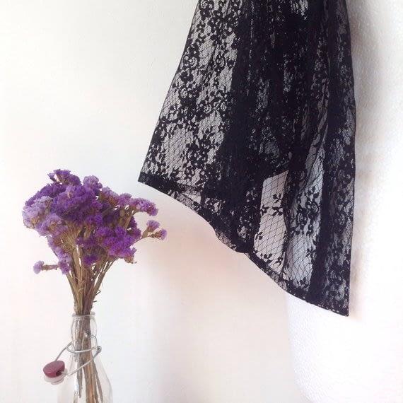 Detail Black lace Kimono